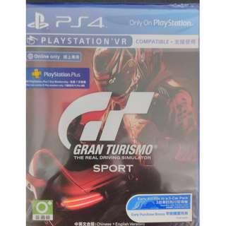 全新未拆 PS4 GT S 跑車浪漫旅 競速 Gran Turismo Sport 繁體中文版 初回特典 七天會籍
