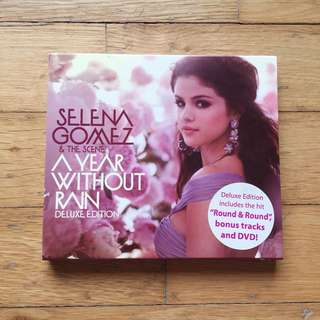 SELENA GOMEZ A YEAR WITHOUT RAIN CD DISC OFFICIAL ALBUM