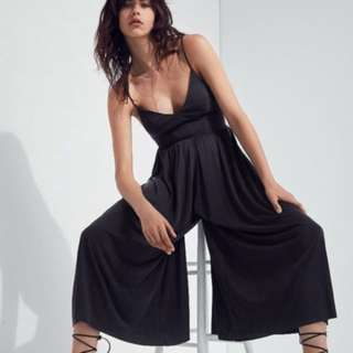 Silence + Noise Molly Cupro Cullote Jumpsuit
