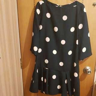 日系波點裙