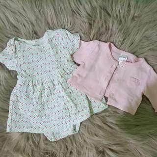 REPRICED!! Carter's 2 pc Cardigan and Dress Set