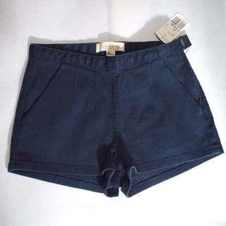 Forever 21 Denim Pleated Shorts