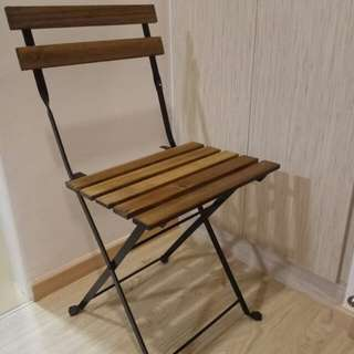 Ikea foldable wooden chair with cushion