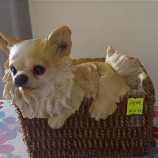 BN Dog Flower Basket Pot