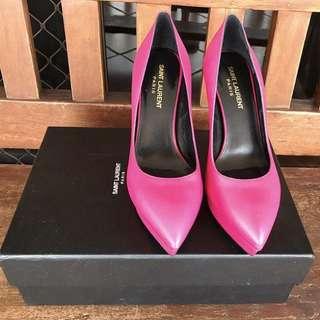 YSL fushia high heel