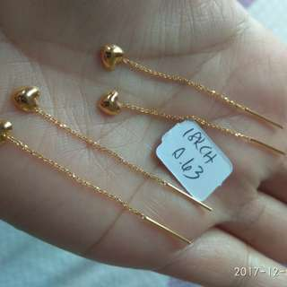 18k Saudi gold earing