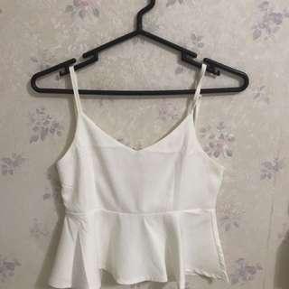 Peplum Top (white)