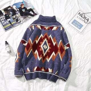 048--高領針織毛衣