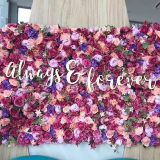 [Rental] Always & Forever Calligraphy Wooden Signage
