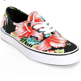 Authentic Vans Hawaiian Floral Shoes