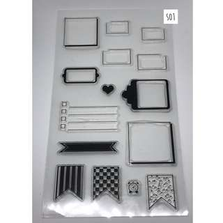 Clear Stamps Set for Planners (S01 - Labels and Tags)