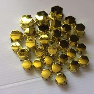 Gold color Decorative Screw Nut Bolt Cap Cover