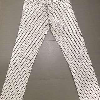 Gap polka jeans (straight cut)