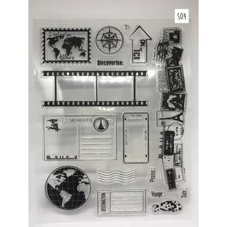 Clear Stamps Set for Planners (S04 - Travel)