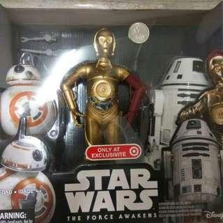 Star Wars the force awaken -  c3po, bb8 n RO-4LO