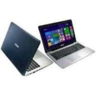 Free 1X Cicilan! Kredit 30 Menit, Asus 456UR-GA091D intel Core i5 7200U Ram4Gb DDR41TB