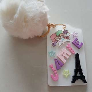 Personalise  card holder with key ring