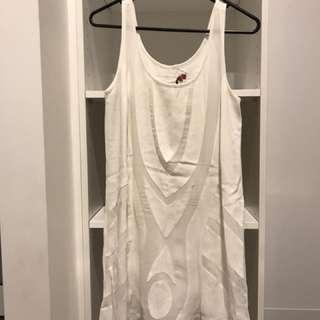 Rodeo show white dress size 6