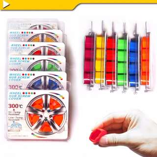 Universal Colourful Rubber Nut Wheel Lugs Cover!
