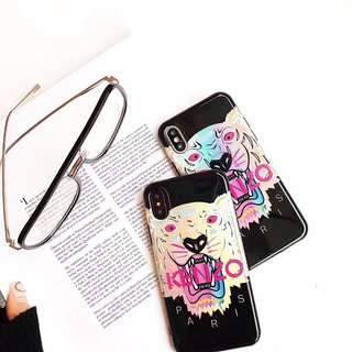 Instocks Brand New Designs Unique Color Depth Kenzo Paris INSPIRED Tiger Full Coverage TPU Soft Shell Mobile Hand Cell HP Handphone Case Casing Cover Sleeve - Apple IPhone 6 6S Plus 7 7Plus 8 8Plus X Ten (him her unisex couple skate ripcurl stussy marble)