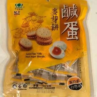 ✈大玩台灣代購✈ 昇田鹹蛋麥芽餅150g小包裝