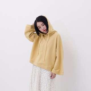 薑黃色寬鬆衛衣 韓版