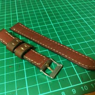 Premade leather watch strap