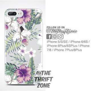 Floral HQ Printed Soft Tpu Case for iPhone