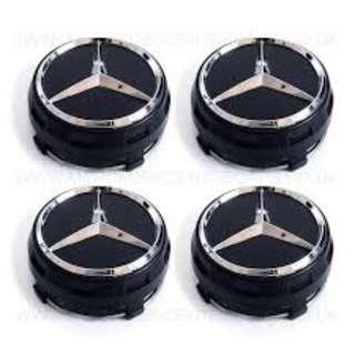 Mercedes Benz AMG Wheel Center Cap (BLACK)