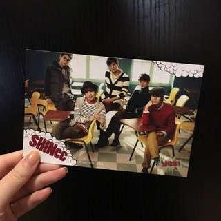 YES! 附送 (絕版) shinee postcard