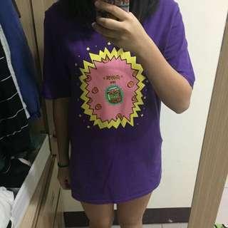 🚚 *自行開價 紫色塗鴉T-shirt(Funky Look購入) #我的女裝可超取