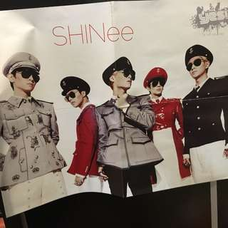 YES! 附送 (絕版) shinee posters 50/1