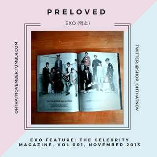 [EXO] OT12: The Celebrity Magazine, Vol 001, November 2013, EXO Feature