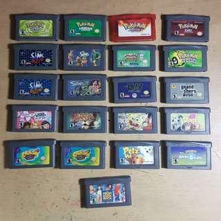 Nintendo Gameboy GBA Games Cartridges