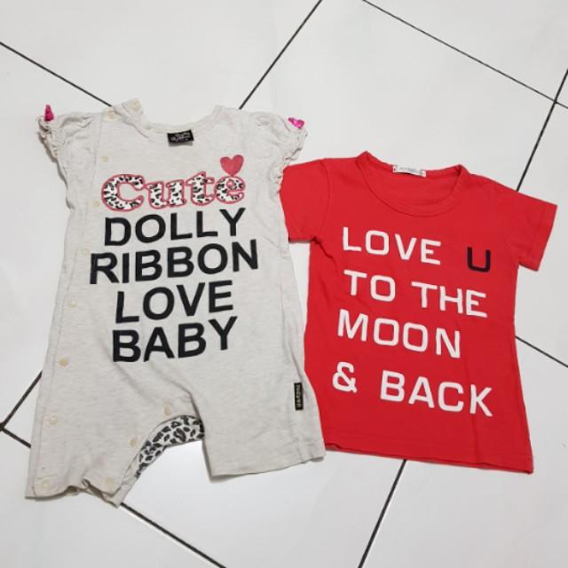 2pcs baju anak