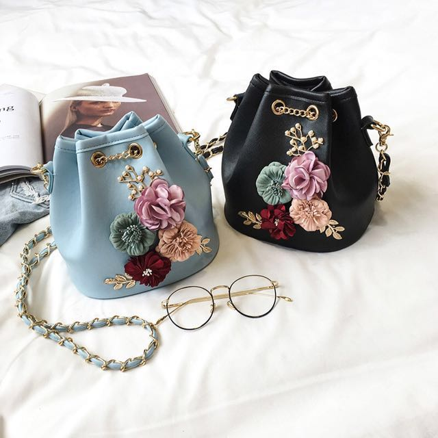 🆕3D flower bucket bag
