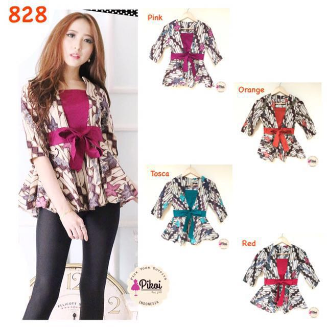 828 Batik Modern Wanita / Batik Peplum Modern / Batik Kantor Murah / batik seragam / batik kerja