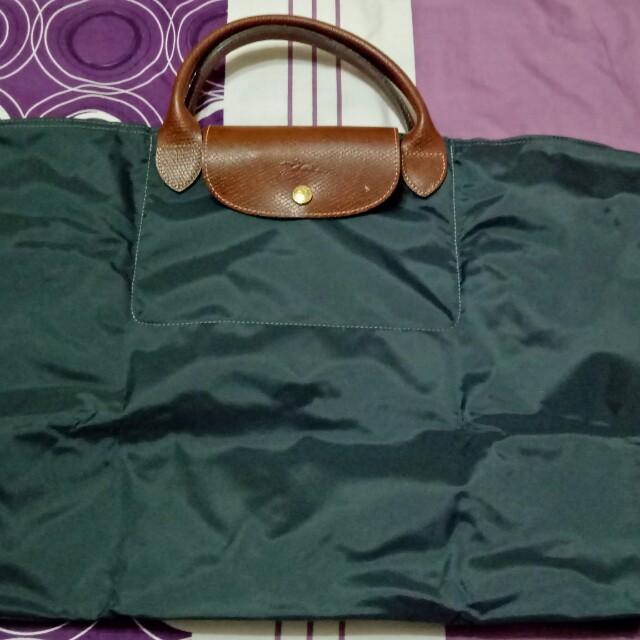 LONGCHAMP 灰綠色大容量包包,全新,可面交。