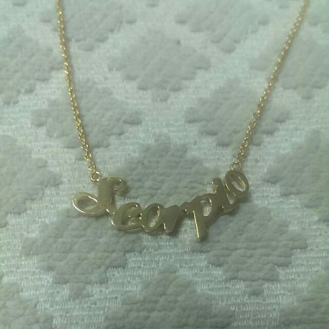 全新天蠍座金色項鍊