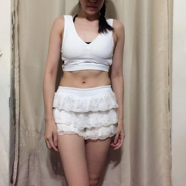 白色蕾絲褲裙襯裙