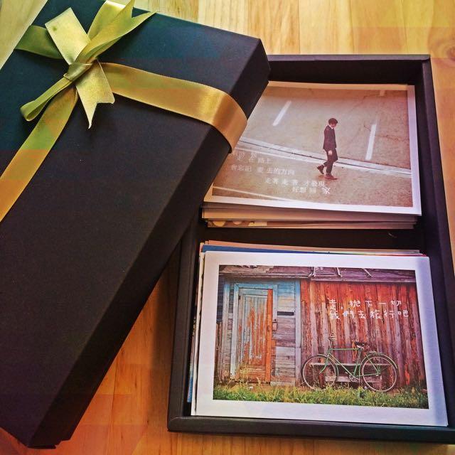 [限量收藏]明信片驚喜禮盒 全新 80張