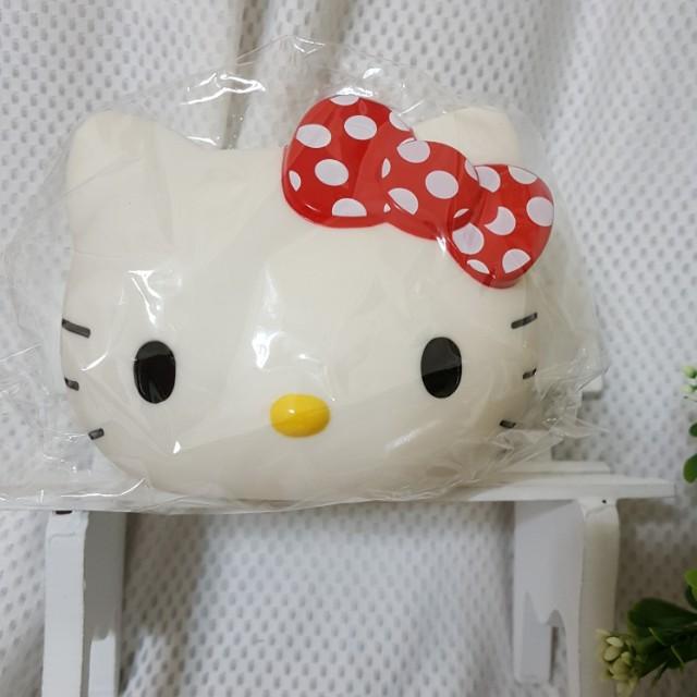 正版三麗鷗 凱蒂貓 Hello Kitty KT臉型筆筒 收納桶 手機架 置物筒 禮品 禮物 文具用品
