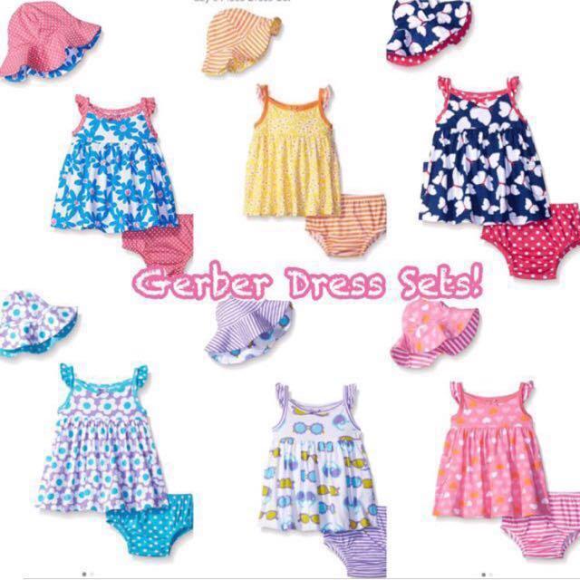 47a3f3147 BN Gerber Baby Girl Dress Sets 12mths-5T, Babies & Kids, Babies Apparel on  Carousell