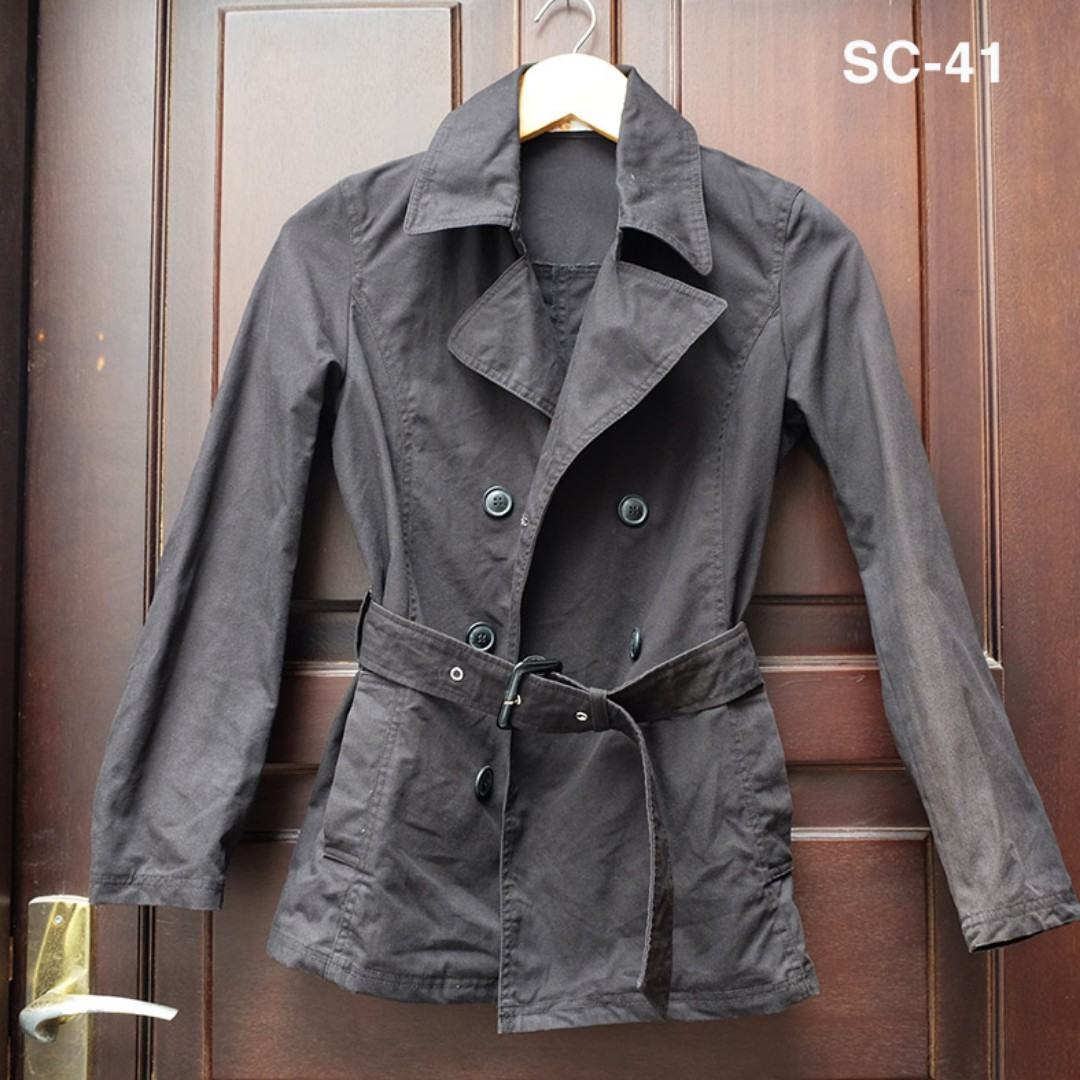 ( Preloved ) BLACK COAT / BLAZER HITAM