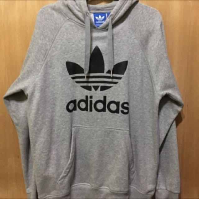Adidas 內鋪棉灰色上衣