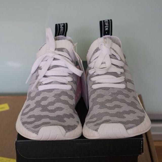 Adidas NMD R2 PK Women's White and Core Black