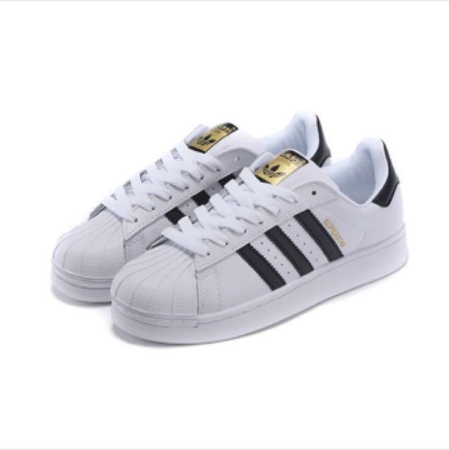經典款Adidas Originals Superstar 正品 金標 三葉草