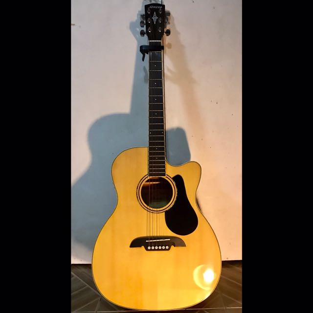Alvarez Acoustic Guitar (glossy finish with built-in chromatic tuner)