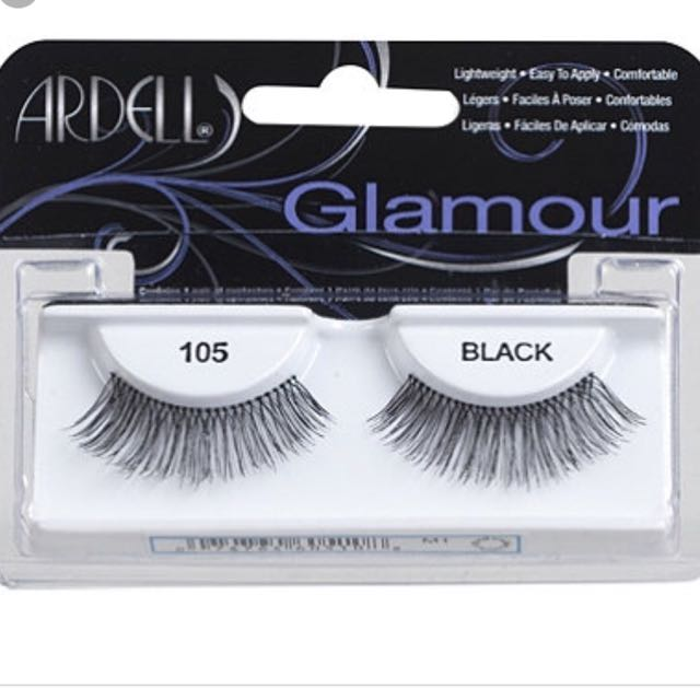 674e4fcd484 Ardell Glamour 105 Black Lashes, Health & Beauty, Makeup on Carousell