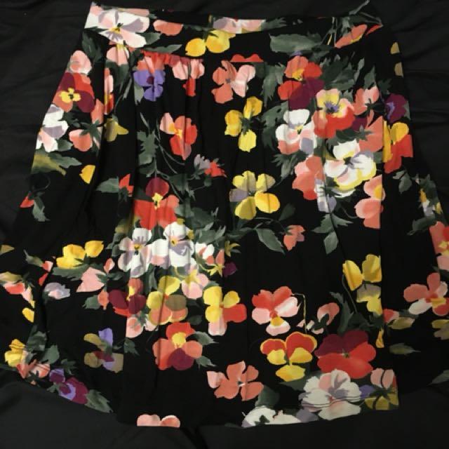ASOS floral mini skirt stretch size 8